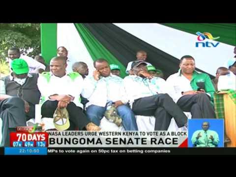 NASA leaders urge Western Kenya to vote as a block