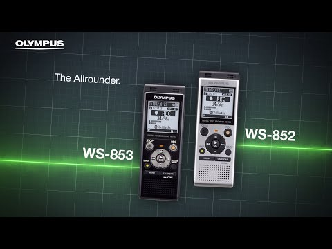a695ca0c78c OLYMPUS WS-852 & WS-853 - Low-noise superb stereo directional microphones -  YouTube