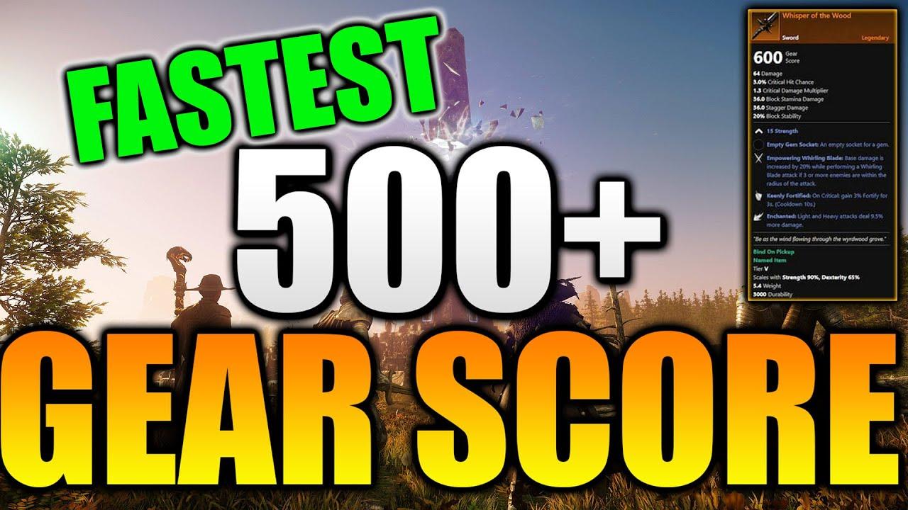 New World Gear Score Watermark - FASTEST WAY TO THE BEST GEAR in New World! New World MMO Gear Score