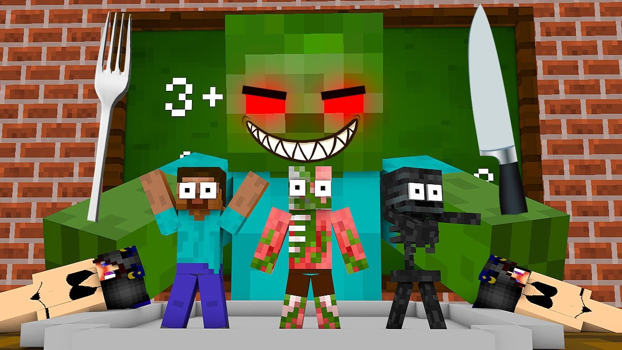 Monster School : TINY COOKING CHALLENGE - Minecraft Animation