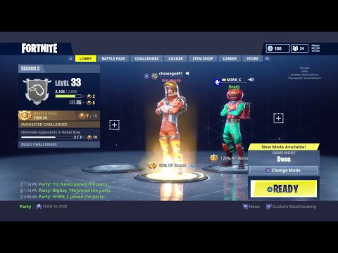 Fortnite  24 hour  stream open squad Join me