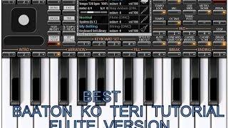 Piano Tutorial Music Baaton Ko Teri Flute