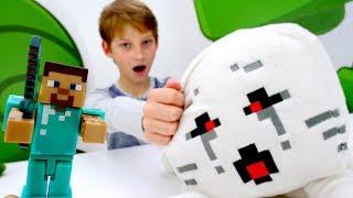 Выживание Майнкрафт для Стива и Игробоя! Minecraft игры для детей.