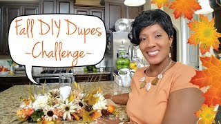 🍁Fall DIY Dupes Challenge🍂Hosted by Kenya Decor Corner & Eclectic Kristen🍁