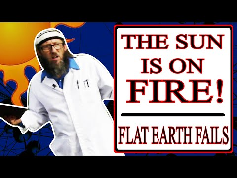 Flat Earther Thinks The Sun Is On Fire - Flat Earth Fails - Team Skeptic thumbnail