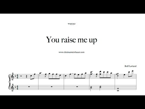 How to Play  You raise me up  -  Rolf Lovland  on the piano