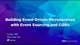 Building Event-Driven Microservices with Event Sourcing and CQRS - Lidan Hifi