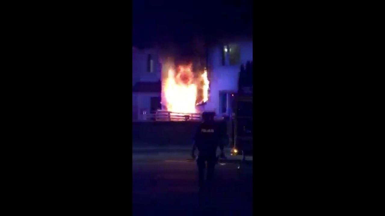 Lublin. Pożar po wybuchu przy ul. Majdanek