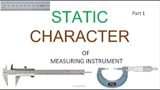 STATIC AND DYNAMIC CHARACTERISTICS| PART1 | BEST ENGINEER