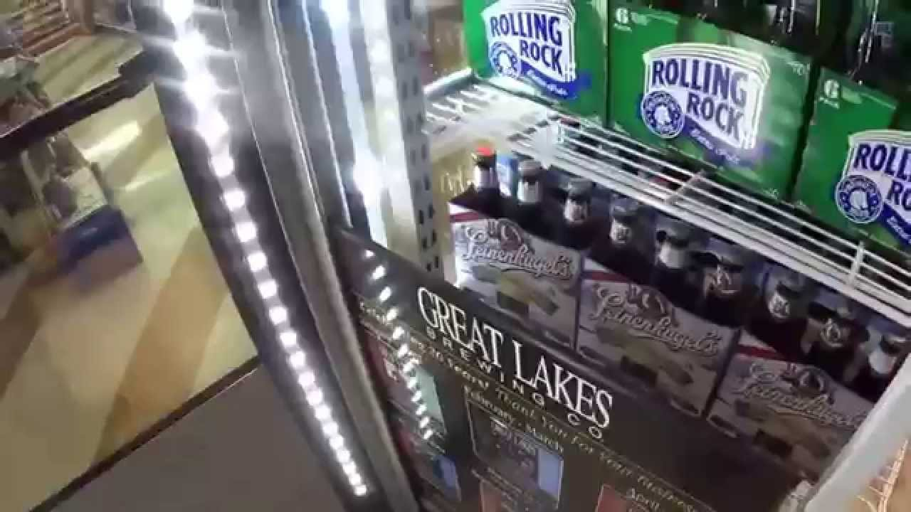Replace the old glass doors with new ones on a walk in cooler & Replace the old glass doors with new ones on a walk in cooler - YouTube