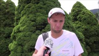 Uladzimir Ignatik po výhře v semifinále na turnaji Futures v Ústí n. O.