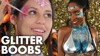 Trying the Trend: GLITTER BODY PAINT (Beauty Trippin)