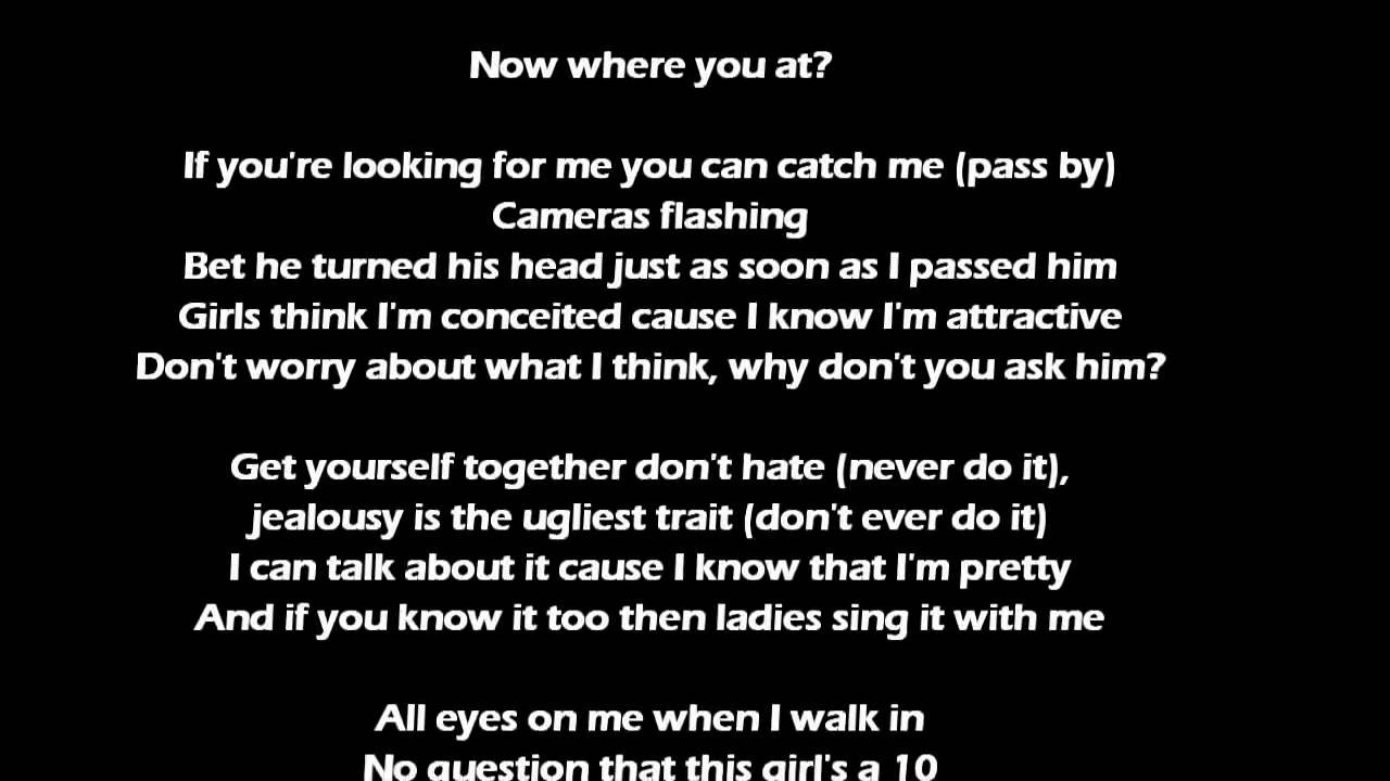 pretty girl rock lyrics keri hilson youtube