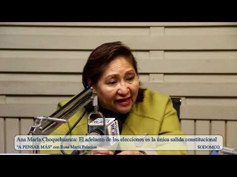 Ana María Choquehuanca: El adelanto de las elecciones es la única salida constitucional