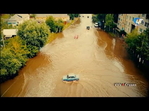 Великий Новгород и Старая Русса пострадали от проливных дождей