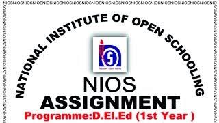 Download nios d el ed assignment front page download for Assignment front page decoration