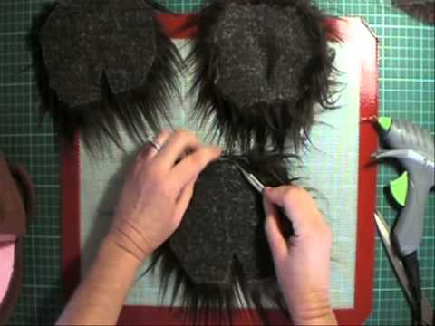 Making Puppet Wig With Hose 44