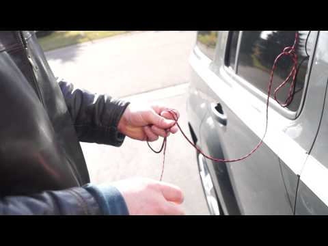 How to unlock a car with a string this really works