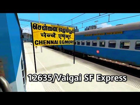 Vaigai Express #chennai Egmore To Kodambakkam | Indian Train Simulator Route | Railworks Train Sim