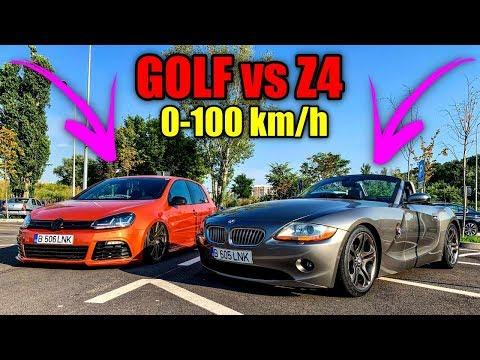 VW Golf vs BMW z4 0-100 km/h - NU MĂ AȘTEPTAM LA ACEST REZULTAT !!
