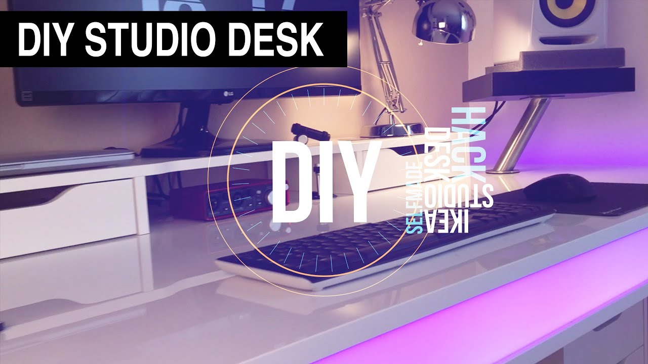 DIY Studio Desk Tisch IKEA Hack DANNY CHRIS YouTube - Cheap diy ikea home studio desk