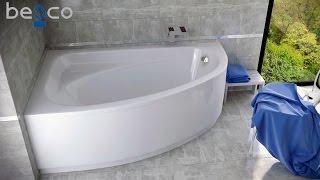 Монтаж пристенной акриловой ванны Besco PMD Piramida (santehimport.ua)