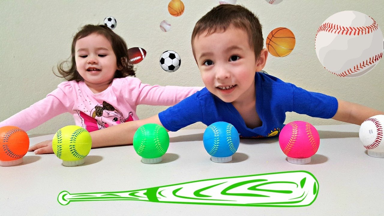 Colors for toddlers and babies - Learn Colors With Balls For Children Toddlers And Babies Colours With Baseballs