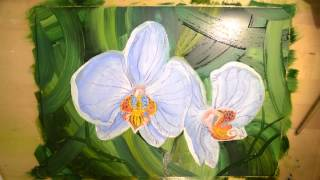 Видео-урок по рисованию. Как нарисовать орхидею масляными красками(Давайте создадим вместе картину с орхидеями. В этом видео-уроке вы найдёте полную и подробную инструкцию..., 2016-03-15T06:49:57.000Z)