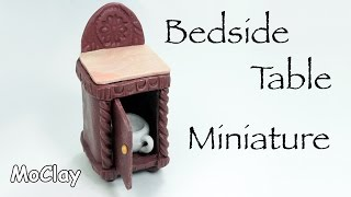 DIY dollhouse furniture - How to make a bedside table