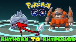 Evolving RHYHORN TO RHYPERIOR IN POKEMON GO - POKEMON GO GEN 4 SHINNOH STONE