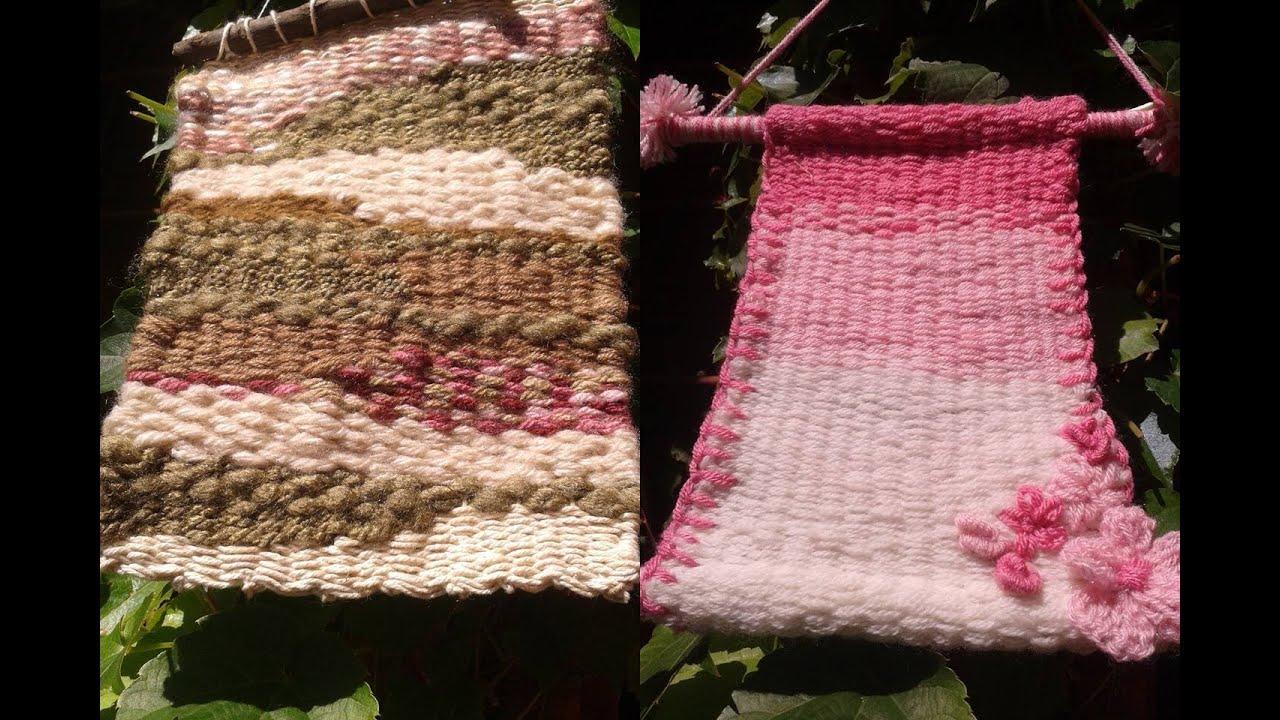 Como hacer un telar casero y con el un mini tapiz - Como hacer un toldo casero ...