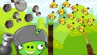 Angry Birds Collection Hacked 2 - OVERDRIVE SHOOT 100 CHUCK TO HIT GIANT BOSS AND STONE!