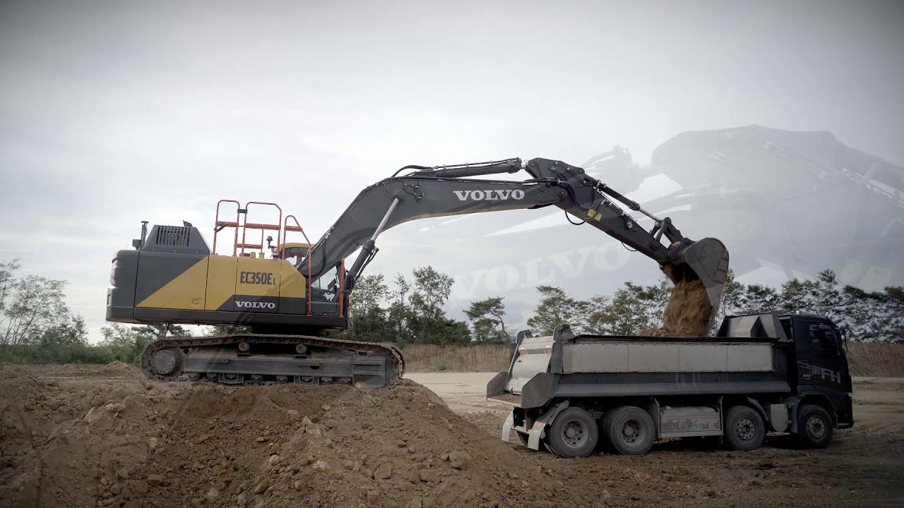 Ein neuer Volvo-Bagger EC350E unterstützt Ihre maximale Rentabilität