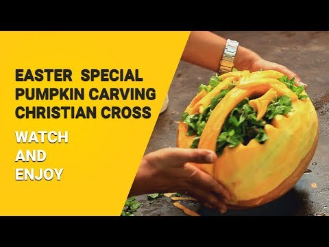 Easter Special  | How To Carve Christian Cross On Pumpkin?
