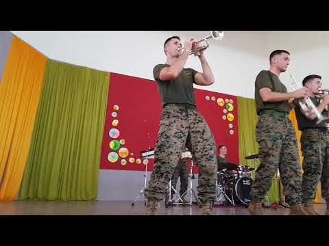 Original Sabahan - US Marine Brass Band Cover SMK Padang Ber