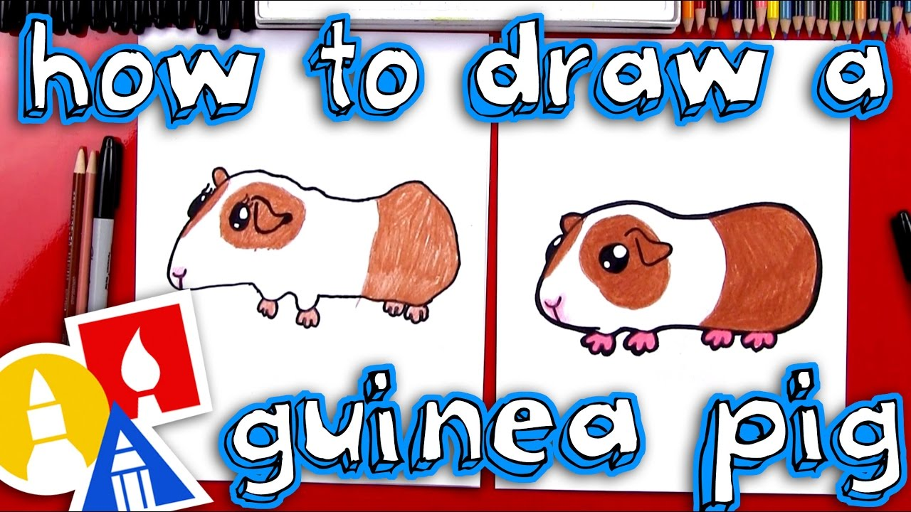how to draw a guinea pig [ 1280 x 720 Pixel ]