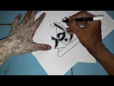 Menggambar 3d Kaligrafi Arab Keren Dan Simple Youtube