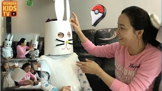 [종이접기] 이상한 토끼 만들기! 토끼로 변신한 재이와 지수. DIY paper toys 종이접기