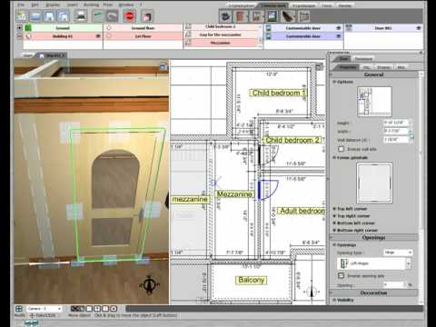 3d home design by livecad tutorials 12 doors 1st floor youtube. Black Bedroom Furniture Sets. Home Design Ideas