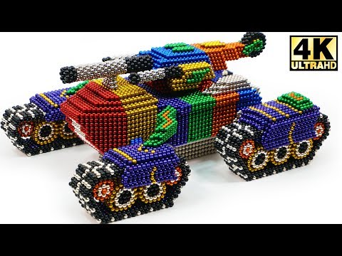 DIY - How To Make Super Tank from Magnetic Balls (Magnet ASMR) | Magnetic Man 4K
