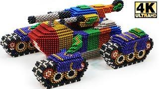 DIY - How To Make Super Tank from Magnetic Balls (Magnet ASMR) | Magnetic Man 4K