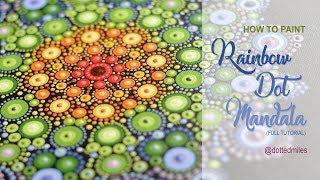 How to paint dot mandala #1   Rainbow Mandala  