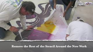 How to Create Logos using Concrete Staining Techni