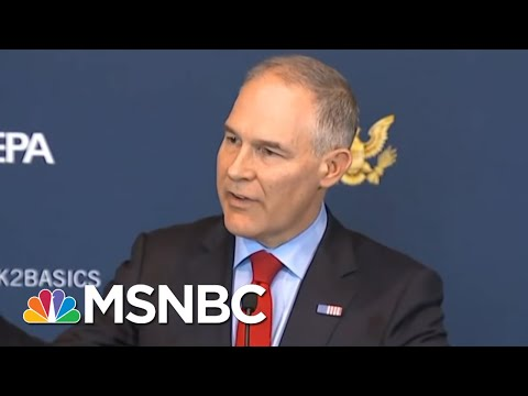 President Trump, GOP Keep Scott Pruitt On Despite Flagrant Abuse Of Office | Rachel Maddow | MSNBC