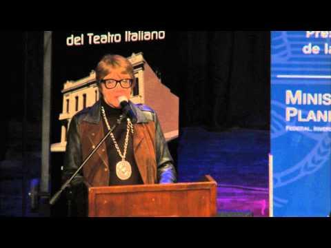 Parodi en la reinauguración del Teatro Italiano en Lobos