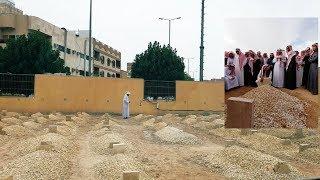 شاهد ماذا فعل مقيم سوداني عند قبر الملك عبدالله ليثير مشاعر السعوديين