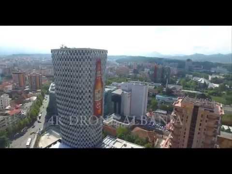 Tirana center by 4K Drone Albania