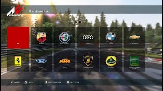 Assetto Corsa PS4 Car list (170+ car base game including DLC)