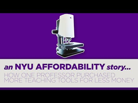 An NYU Affordability Story: How One Professor Purchased More Microscopes for Less Money