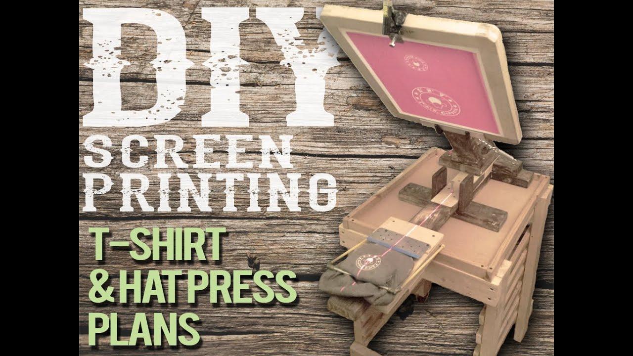 Diy hat platen laser guide homemade screen printing for Diy screen printing t shirts